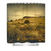 Wupatki National Monument-bench Shower Curtain