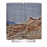 Wupatki National Monument-ruins V15 Shower Curtain