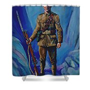 Ww 1 Soldier Shower Curtain