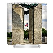 Ww I I Memorial Vintage Shower Curtain