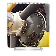 Ww II Airplane Engine Shower Curtain
