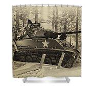 Ww II Battle Of The Bulge 02 Shower Curtain