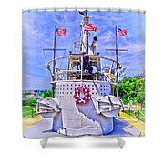 Ww II Submarine Memorial Shower Curtain