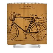 Ww1 Military Bicycle Shower Curtain