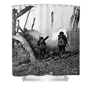 Wwi American Soldiers  Shower Curtain by Photo Researchers