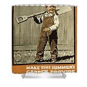 Wwi Farming C1915 Shower Curtain