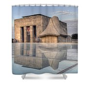 Wwi Museum  Shower Curtain by Lisa Plymell
