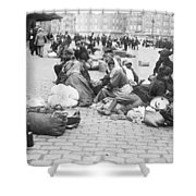 Wwi Refugees, C1914 Shower Curtain