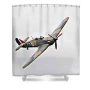 Wwii Fighter Plane The Hurricane Shower Curtain
