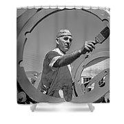 Wwii Home Front Worker Shower Curtain