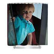 Wyatt Portrait 3 Shower Curtain
