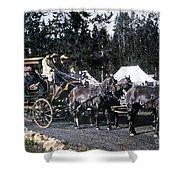 Wylie Coach Yellowstone National Park Shower Curtain