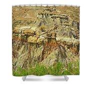 Wyoming Badlands Landscape Three Shower Curtain