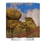 Wyoming Badlands Rock Detail Two Shower Curtain