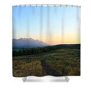 Wyoming Landscapes Shower Curtain