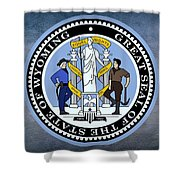 Wyoming State Seal Shower Curtain