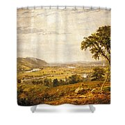 Wyoming Valley. Pennsylvania Shower Curtain