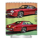 1986 X J S Jaguar Coming And Goingf Shower Curtain