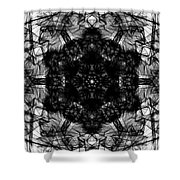 X-ray Of A Snowflake Shower Curtain