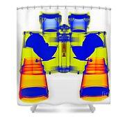 X-ray Of Binoculars Shower Curtain