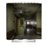 X Ray Waiting Room. Shower Curtain