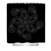 X To The Sixth Power Inverse Shower Curtain