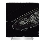 Porsche 2 Shower Curtain