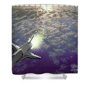 X34 Aircraft Shower Curtain