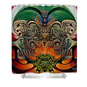 Xiuhcoatl The Fire Serpent Shower Curtain by Ricardo Chavez-Mendez
