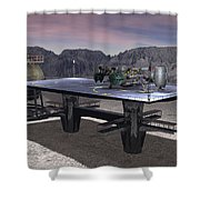 Xk-119 On Lz Shower Curtain