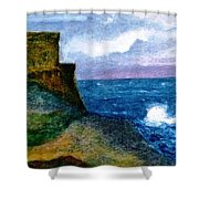 Xlendi Tower - Gozo Shower Curtain