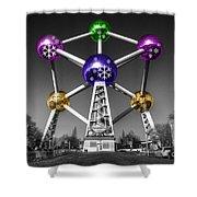 Xmas Atomium  Shower Curtain
