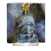 Xmas Bell 02 Photo Art Shower Curtain
