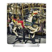 Xmas Carousel Shower Curtain