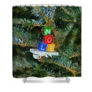 Xmas Noel Ornament Photo Art 01 Shower Curtain