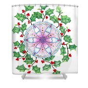 X'mas Wreath Shower Curtain