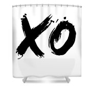 Xo Poster White Shower Curtain