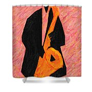Xtra Large Sax Shower Curtain