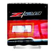 Xxl Chevrolet 2014 Z28 Tail Light Shower Curtain