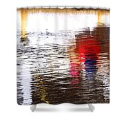 Floating On Blue 31 Shower Curtain