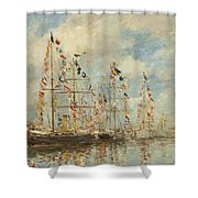 Yacht Basin At Trouville Deauville Shower Curtain