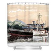 Alaskan Sunrise Shower Curtain