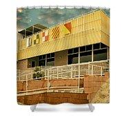 Yacht Rock Vintage Effect North Shore Yacht Club Salton Sea Shower Curtain