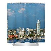 Yachts And Modern Cartagena Shower Curtain