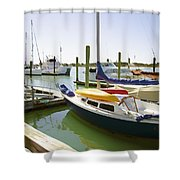 Yachts In A Port 1 Shower Curtain