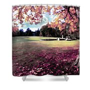 Yaddo Tree Shower Curtain