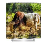 Yak Having A Snack Shower Curtain
