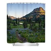 Yakima Peak At Sunrise Shower Curtain
