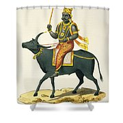 Yama, God Of The Invisible World Shower Curtain
