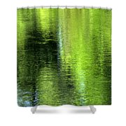 Yamhill River Abstract 24831 Shower Curtain